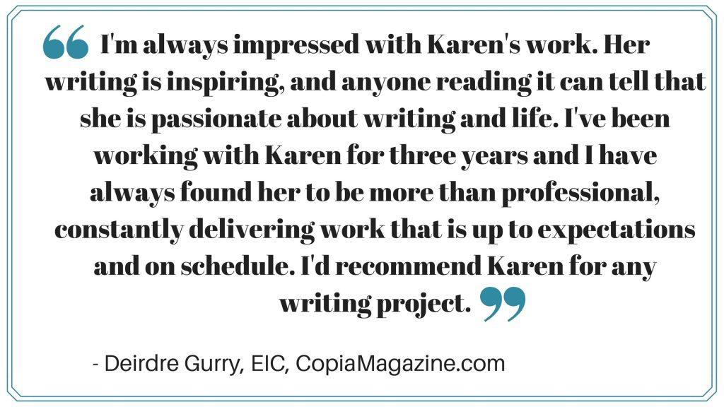 Karen Banes Testimonials