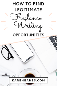How to Find Legitimate Freelance Writing Opportunities